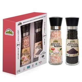 Himalayan Chef Large Pink Salt & Black Pepper Grinder Set, 1.2 lbs