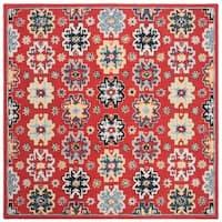 Safavieh Handmade Heritage Traditional Oriental - Red / Blue Wool Rug - 6' x 6' Square