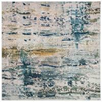 "Safavieh Monaco Bohemian & Eclectic Geometric - Blue / Grey Rug - 6'7"" x 6'7"" square"