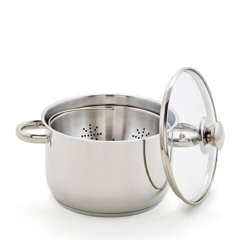 """8"""" Steamer Basket, Pot & Lid"""