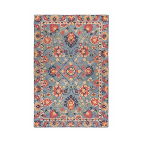 Colorfields Williamsburg Blue Tufted Accent Rug - 2' x 3'