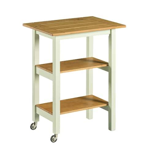 Priage by Zinus Farmhouse Wood Kitchen Cart