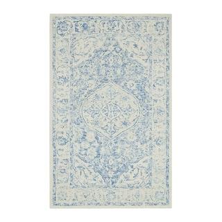 "Colorfields Prana Blue Tufted Rectangle Rug - 7'6"" x 9'6"""