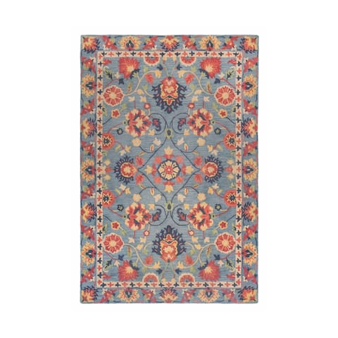 """Colorfields Williamsburg Blue Tufted Rectangle Rug - 7'6"""" x 9'6"""""""