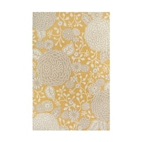 Colorfields Sachi Gold Tufted Rectangle Rug - 7'6 x 9'6