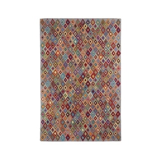 """Colorfields Argyle Multi-Color Hooked Rectangle Rug - 8'6"""" x 12'"""