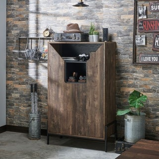 Carbon Loft Cassini Rustic 8-shelf Shoe Cabinet