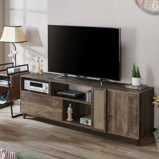 Furniture of America Banner Rustic 70-inch TV Stand