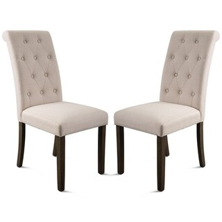 Copper Grove Boryspil Tufted Armless Dining Chairs (Set of 2)