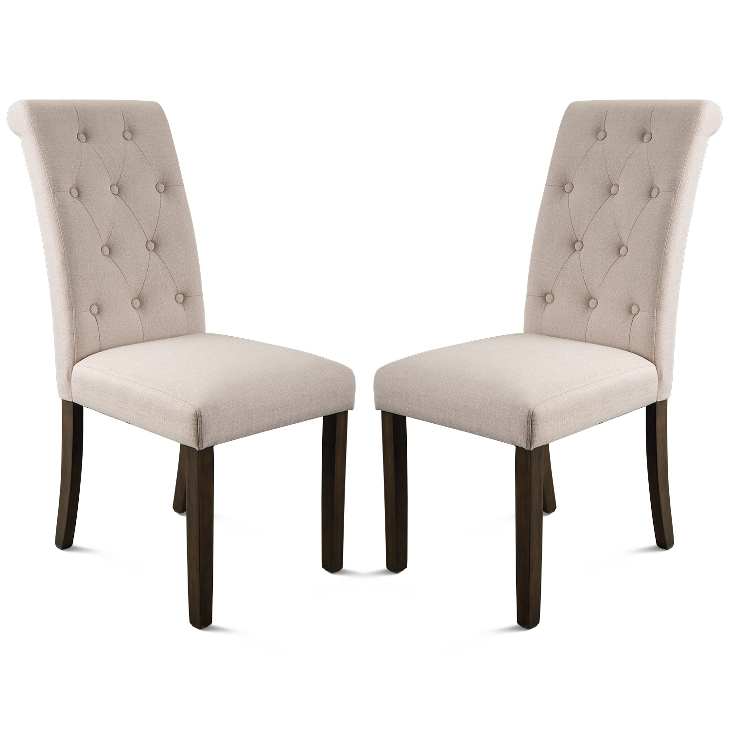 225 & Merax Noble and Elegant Solid Wood Tufted Dining Chair (Set of 2)