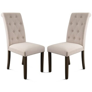 Merax Aristocratic Style Dining Chair Noble and Elegant Solid Wood Tufted Dining Chair Dining Room Set (Set of 2)