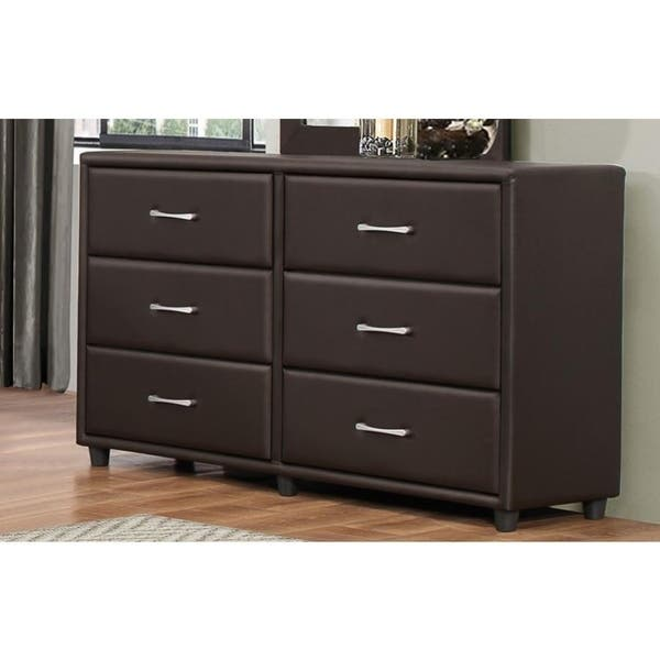 Shop Black Friday Deals On 6 Drawer Dresser In Wood And Pvc Brown On Sale Overstock 23485992