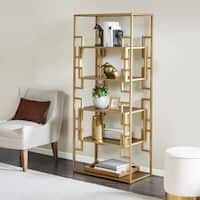 Madison Park Leslie Gold Bookcase