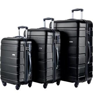 Merax 3-Piece Hardside Lightweight Spinnerand Rolling Luggage Set