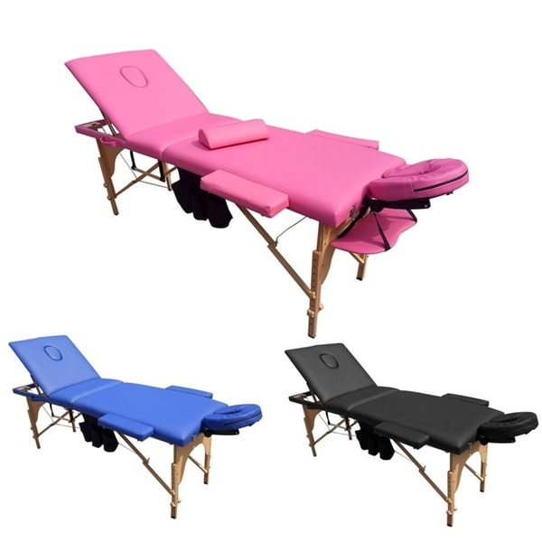 Massage Table Home Furniture Wood Salon Spa Facial Bed With Carrying Case