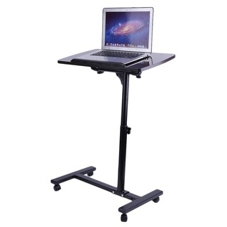 Adjustable Overbed Rolling Table Over Bed Laptop Food Tray Hospital Desk