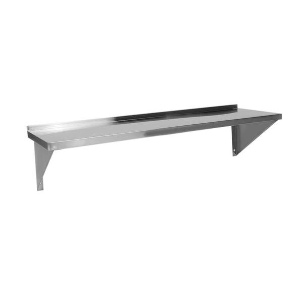 Shop Wall Mounted Stainless Steel Kitchen Shelf 120x35cm ...