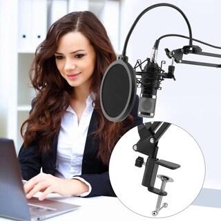 Condenser Microphone Set Suspension Boom Scissor Arm Stand BM-800