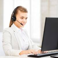 Hands-free RJ9 Call Center Headset Noise Canceling Binaural USB Earphone