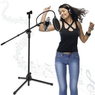 Computer Studio Sound Recording Condenser Microphone With Floor Stand
