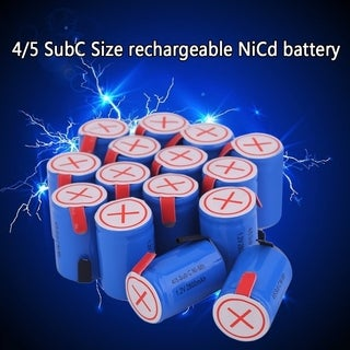4/5 SubC 1.2V 2800MAH Rechargeable Battery Eco-Friendly Replacement Battery - Blue