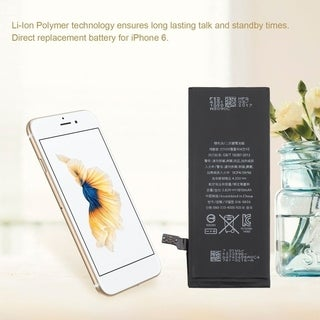 Li-Ion Polymer Battery 1810mAh 3.82V Replacement Internal Battery For iPhone 6 - Black