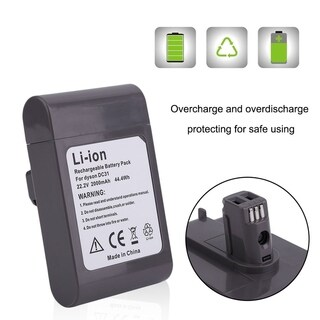 Rechargeable Battery 2000mAh 22.2V Replacement For Dyson DC31 Vacuum Cleaner - Black and Red
