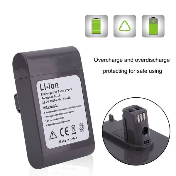 Shop Black Friday Deals On Rechargeable Battery 2000mah 22 2v Replacement For Dyson Dc31 Vacuum Cleaner Black And Red Overstock 23486577