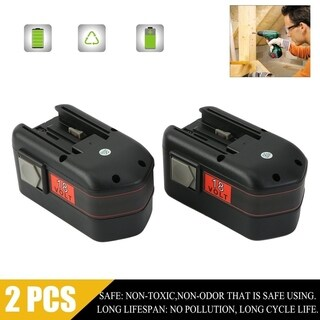 18V 2.0Ah 2000mAh NiCd Replacement Power Tool Battery For Milwaukee 48-11-2200 - Black