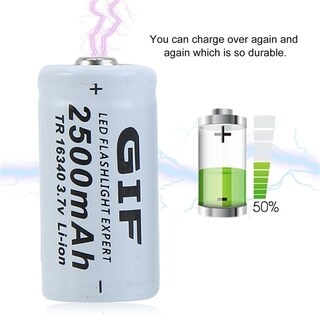 20pcs 3.7V 2500mAh GTF 16340 Li-Ion Batteries Set With 2 Chargers For Camera