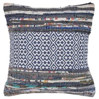 LR Home Geometric Diamond Shape Multi Color Throw Pillow 18 inch