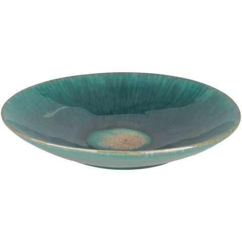 Sanibel Mint Ceramic Indoor/ Outdoor Charger Plate
