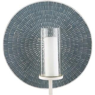 Kiara Sage Mosaic Tile Wall Sconce Candleholder - N/A