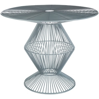 Ryder Grey Modern Metal Wire Accent Table