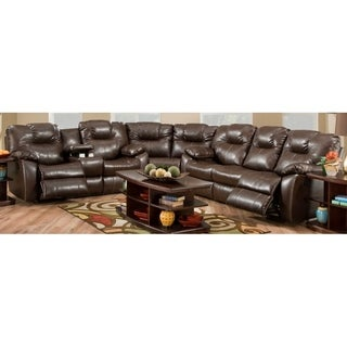 Southern Motion's Avalon Leather Reclining Sectional