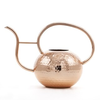 Hammered Copper Globe Watering Can, 32 Oz.
