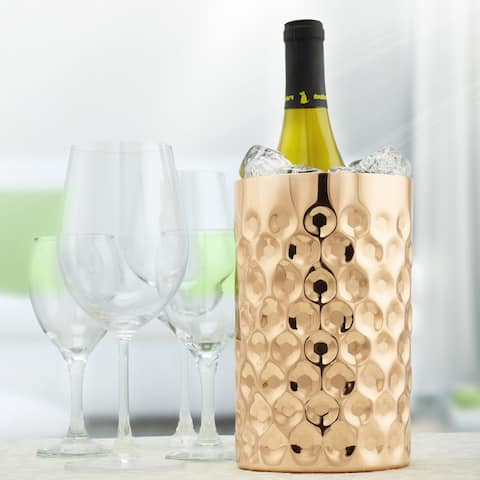 """La Mode"" Copper Double Wall Wine Chiller, 7¾"" H x 4¾"" Dia."
