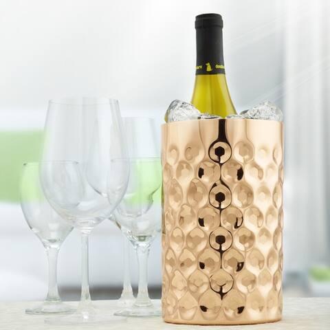 """""""La Mode"""" Copper Double Wall Wine Chiller, 7¾"""" H x 4¾"""" Dia."""