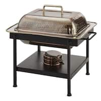 "15¼"" x 12½"" x 15"" Rectangular Antique Copper Hammered Chafing Dish, 4 Qt."