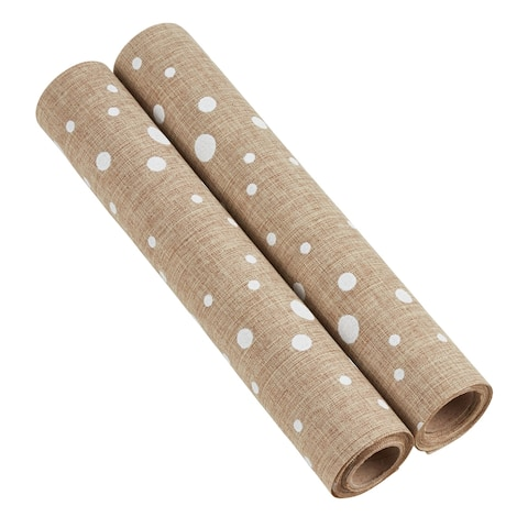 Fabric Rolls With Polka Dot Design (Set of 2)