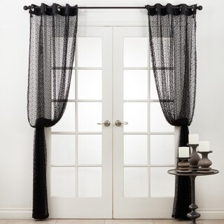 Grommet Top Panel Knitted Curtains