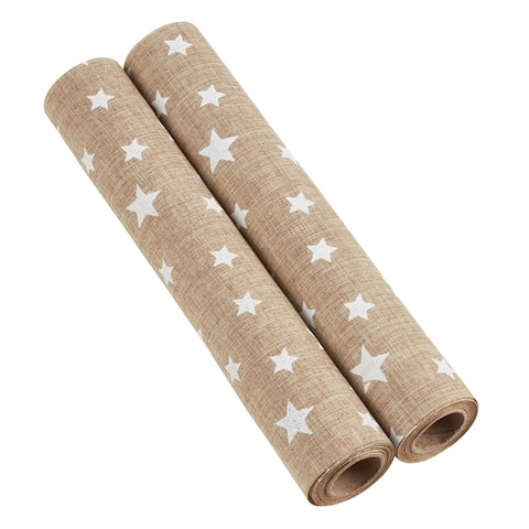 Star Design Fabric Roll (Set of 2)