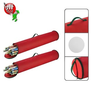 """Elf Stor 2-Pack Christmas Gift 40.5"""" Wrapping Paper Wrap Storage Bag Stand Up"""