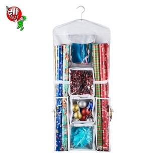 Elf Stor Deluxe Hanging Gift Wrap and Bag Organizer