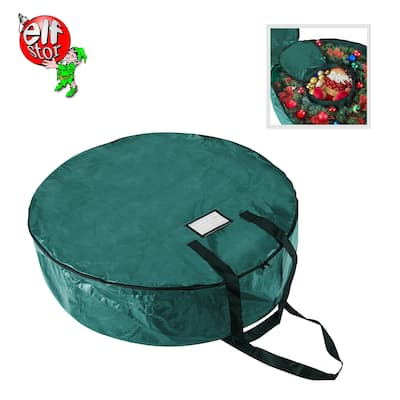 "Elf Stor Holiday Christmas Wreath Storage Bag 36"" Wreaths"