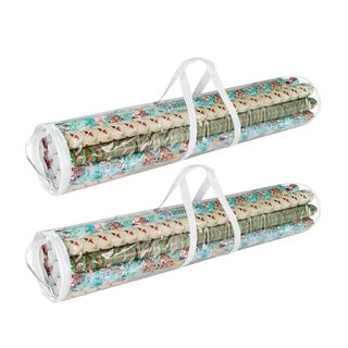 """Elf Stor Wrapping Paper and Gift Wrap Storage Bag 40"""" Rolls 2 Pack"""