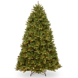 Newberry 6-foot Green Spruce Tree with 600 Dual Color Foot Pedal Switch Controlled LED Lights and Metal Tree Stand