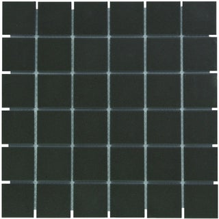 London Square Unglazed Porcelain Mosaic Tile Dark Gray (Case of 10 sheets / 10.3 sq. ft.)