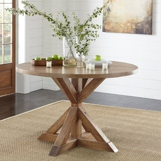Link to Simple Living Roma Dining Table - Brown Similar Items in Dining Room & Bar Furniture