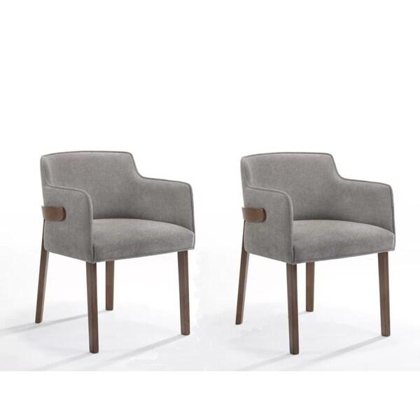 Shop Modrest Jordan Modern Grey Amp Walnut Dining Chair Set